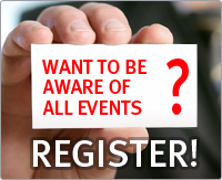 Want to be aware of all events? Register!